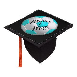 Female Soccer Player Graduation Cap
