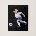 Female Soccer Player Jigsaw Puzzle