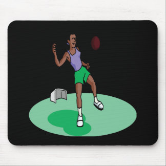Female Soccer Player Mouse Pad