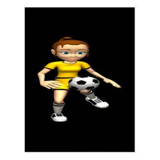Female Soccer Player Postcard
