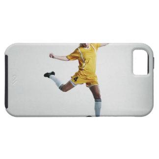 Female soccer player preparing to kick soccer iPhone SE/5/5s case