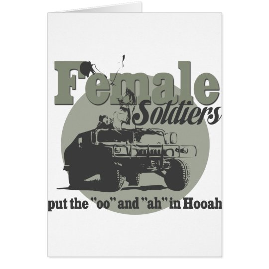 Female Soldiers Card