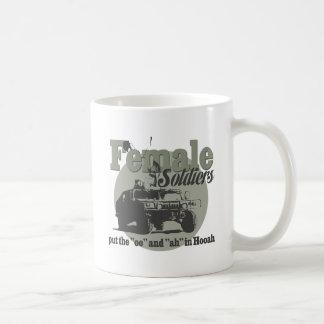 Female Soldiers Classic White Coffee Mug