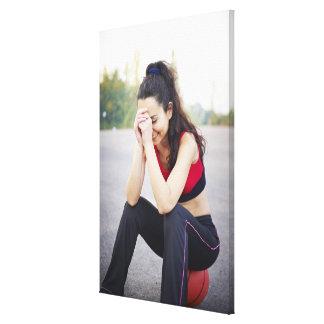 Female sports canvas prints