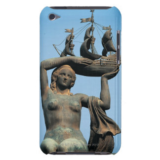 Female statue holding ship, Barcelona iPod Touch Case-Mate Case