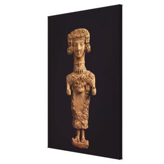 Female statuette on a plinth, Puig des Molins necr Gallery Wrapped Canvas