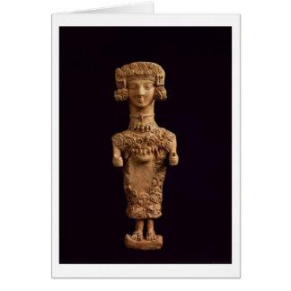 Female statuette on a plinth, Puig des Molins necr Cards