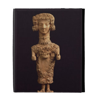 Female statuette on a plinth, Puig des Molins necr iPad Folio Covers