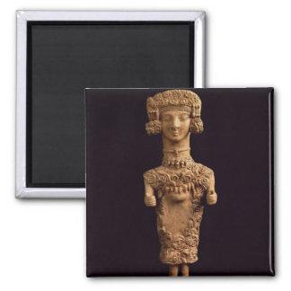Female statuette on a plinth, Puig des Molins necr Fridge Magnet