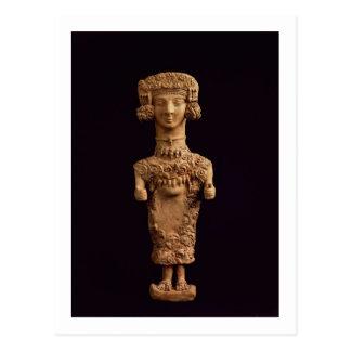 Female statuette on a plinth, Puig des Molins necr Post Card