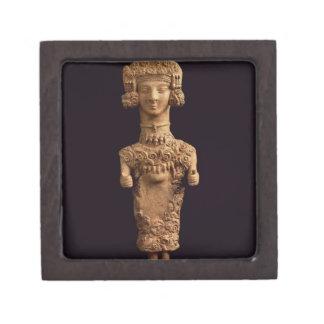 Female statuette on a plinth, Puig des Molins necr Premium Trinket Box