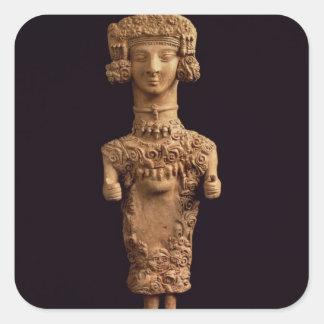 Female statuette on a plinth, Puig des Molins necr Square Sticker