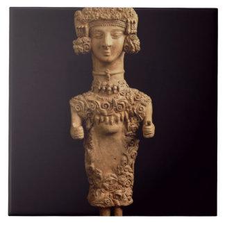 Female statuette on a plinth, Puig des Molins necr Tiles