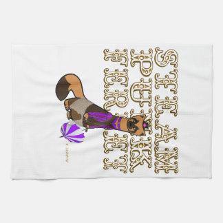 female steam punk ferret towel