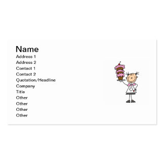 Female Stick Figure Baker Double-Sided Standard Business Cards (Pack Of 100)