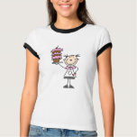 Female Stick Figure Baker Tshirts and Gifts