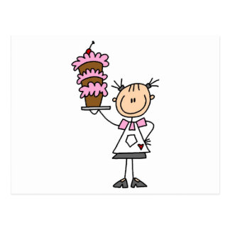 Female Stick Figure Baker Tshirts and Gifts Postcard