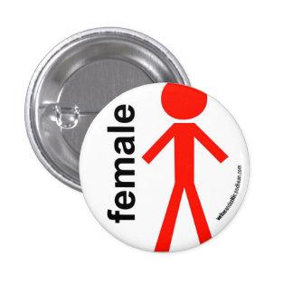 Female Stick Figure Pin