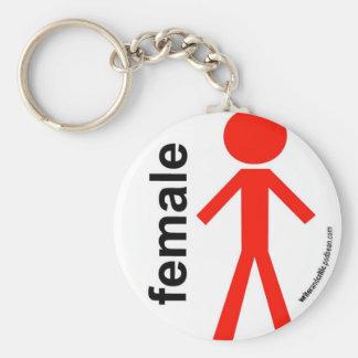 Female Stick Figure Keychain