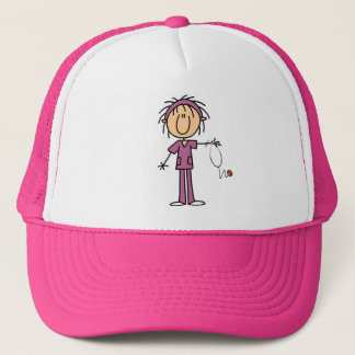 Female Stick Figure Nurse Trucker Hat