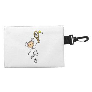Female Stick Figure Tennis Player Accessory Bag