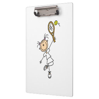 Female Stick Figure Tennis Player Clipboards