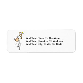Female Stick Figure Tennis Player Label