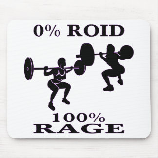 Female Strength Training 0% Roid 100% Rage Mouse Pad