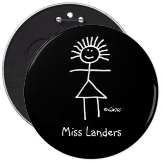 Female Substitute Teacher Name Tag Cute Funny 6-in Pinback Button