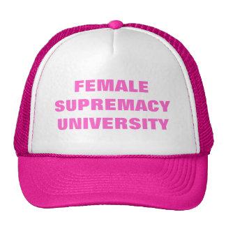 FEMALE SUPREMACY UNIVERSITY TRUCKER HAT