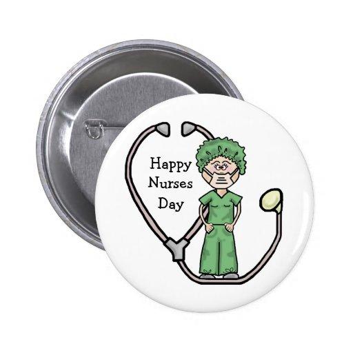 Female Surgical Nurse Button  Customize It!