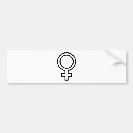 Female Symbol Bumper Sticker