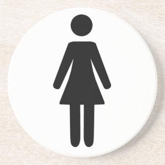 Female Symbol Drink Coaster