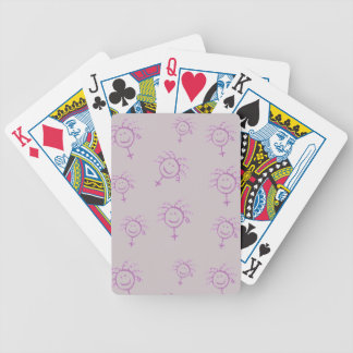 Female symbol happy face for girls women feminists bicycle playing cards