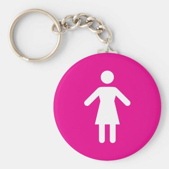 Female symbol keychain