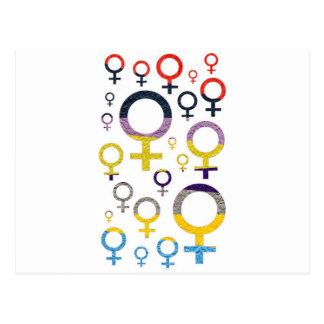 Female Symbol Pattern Postcard