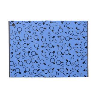 Female Symbol (Venus) Black on Cornflower Blue iPad Mini Cover