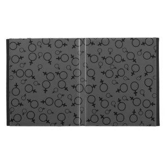 Female Symbol (Venus Symbol) Black on Dark Grey iPad Folio Covers