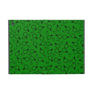 Female Symbol (Venus Symbol) Black on Green Cases For iPad Mini