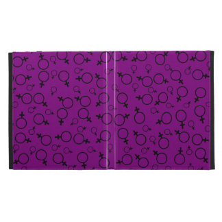 Female Symbol (Venus Symbol) Black on Purple iPad Folio Case
