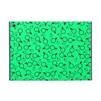 Female Symbol (Venus Symbol) Black on Spring Green Case For iPad Mini