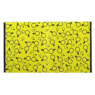 Female Symbol (Venus Symbol) Black on Yellow iPad Case