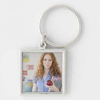 Female teacher at school keychain