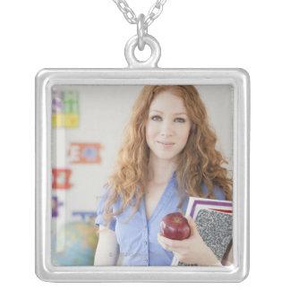 Female teacher at school necklace