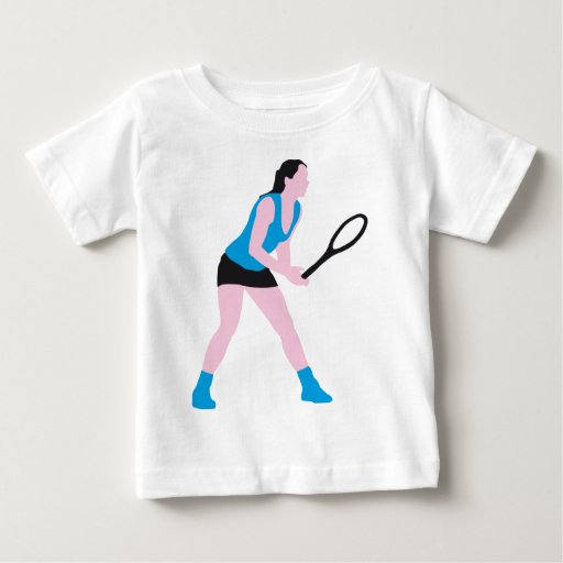 female tennis more player baby T-Shirt