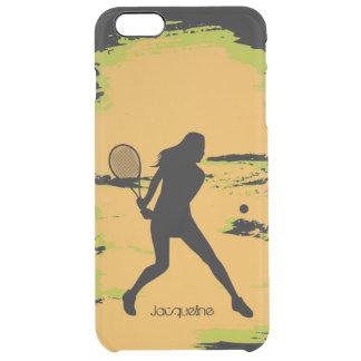 Female Tennis Player Clear iPhone 6 Plus Case