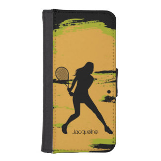Female Tennis Player iPhone 5 Wallet Cases