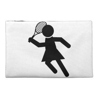 Female Tennis Player - Tennis Symbol Travel Accessory Bag