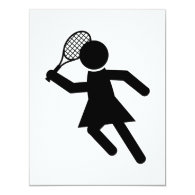 Female Tennis Player - Tennis Symbol Card