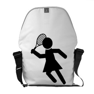 Female Tennis Player - Tennis Symbol Commuter Bag